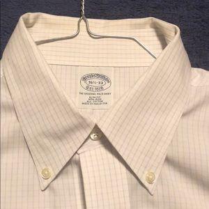 Brooks Bros: 16.5x33 Slim-fit button down dress sh
